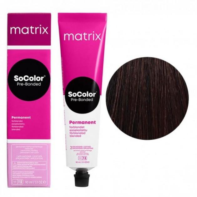 Краска для волос 4M шатен мокка Matrix Socolor Beauty Pre-Bonded 90 мл