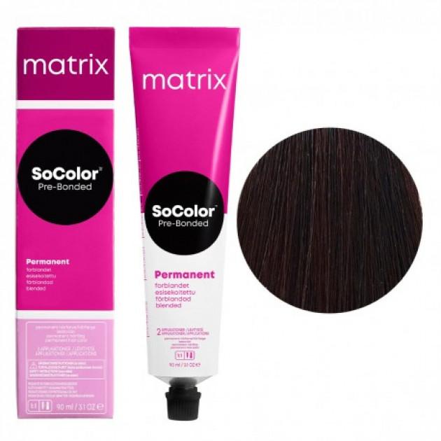 Краска для волос 4MA шатен мокка пепельный Matrix Socolor Beauty Pre-Bonded 90 мл