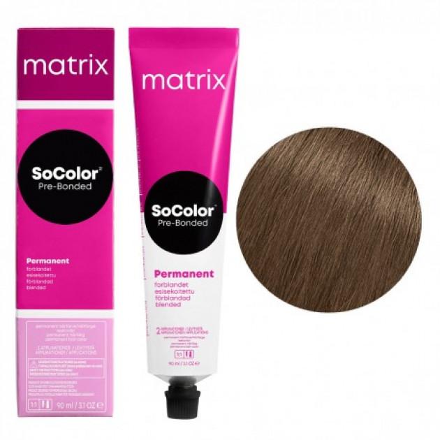 Краска для волос 6AM темный блондин пепельный мокка Matrix Socolor Beauty Pre-Bonded 90 мл