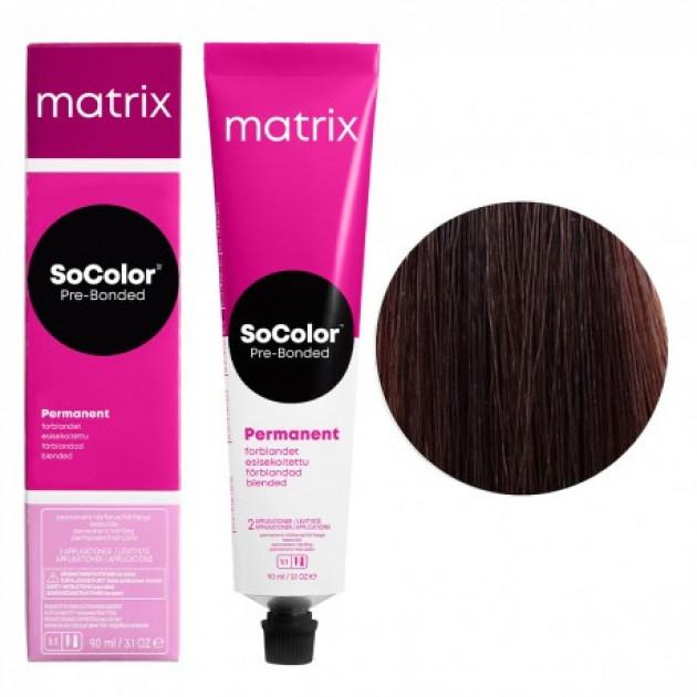 Краска для волос 6MA темный блондин мокка пепельный Matrix Socolor Beauty Pre-Bonded 90 мл