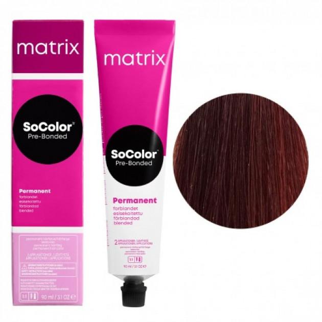 Краска для волос 6MR темный блондин мокка красный Matrix Socolor Beauty Pre-Bonded 90 мл