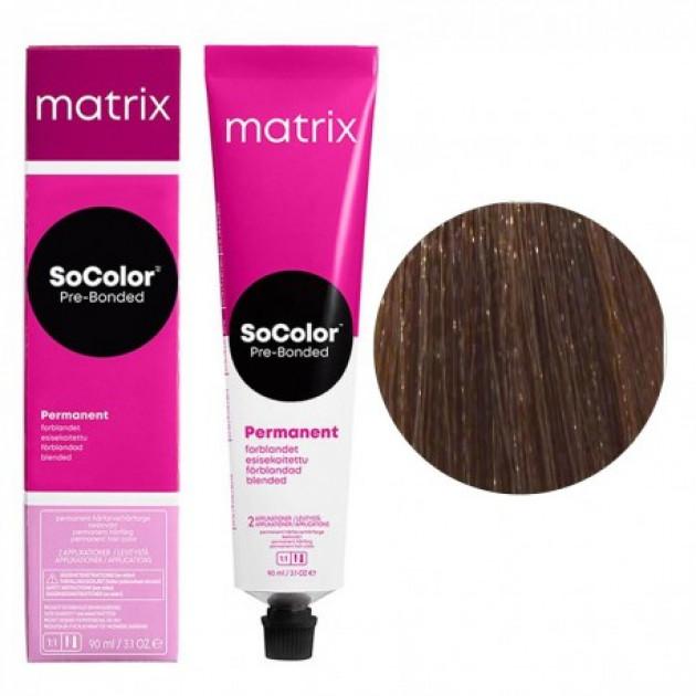 Краска для волос 6NW натуральный теплый темный блондин Matrix Socolor Beauty Pre-Bonded 90 мл