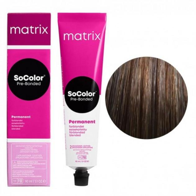Краска для волос 6SP темный блондин серебристый жемчужный Matrix Socolor Beauty Pre-Bonded 90 мл