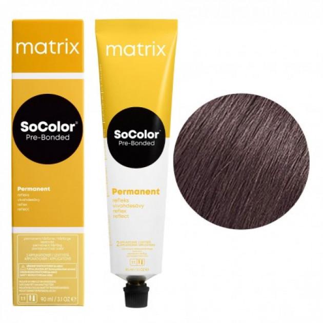 Краска для волос 6VA темный блондин перламутровый пепельный Matrix Socolor Beauty Pre-Bonded 90 мл