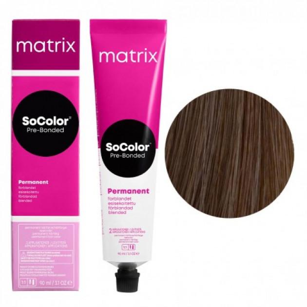 Краска для волос 7A блондин пепельный Matrix Socolor Beauty Pre-Bonded 90 мл