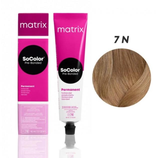 Краска для волос 7N темный шатен Matrix Socolor Beauty Pre-Bonded 90 мл