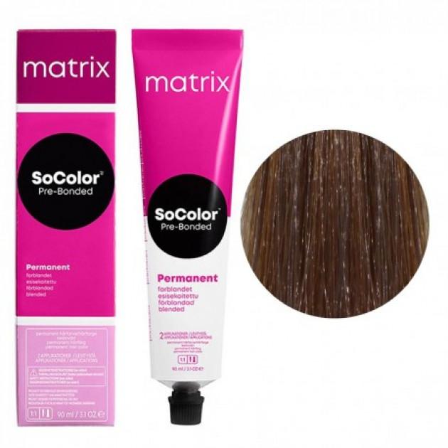 Краска для волос 8AV светлый блондин пепельно-перламутровый Matrix Socolor Beauty Pre-Bonded 90 мл