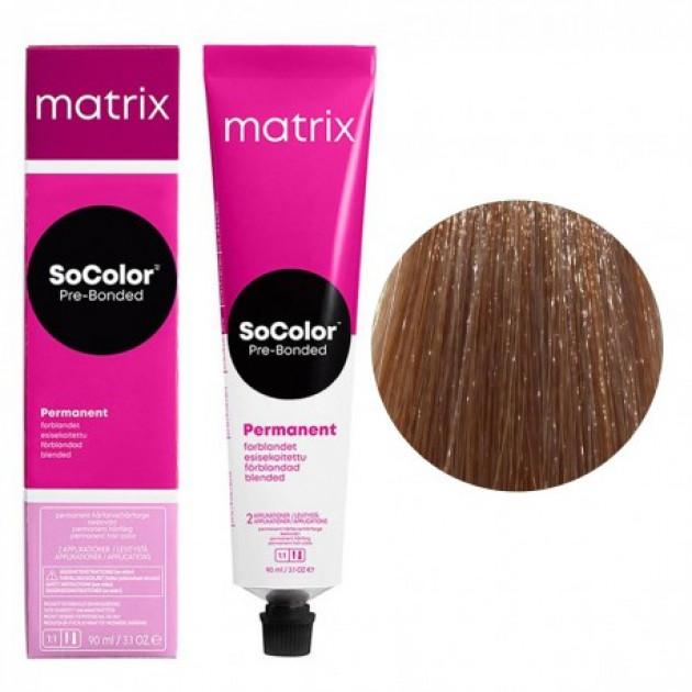 Краска для волос 8MМ светлый блондин мокка мокка Matrix Socolor Beauty Pre-Bonded 90 мл