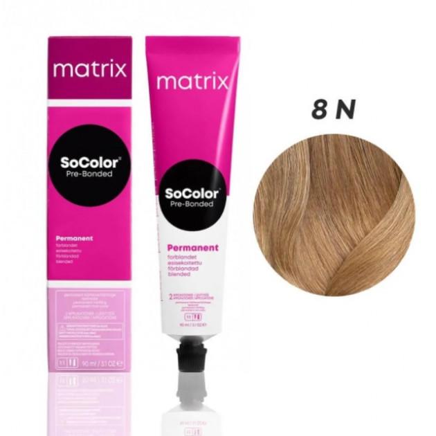 Краска для волос 8N темный шатен Matrix Socolor Beauty Pre-Bonded 90 мл