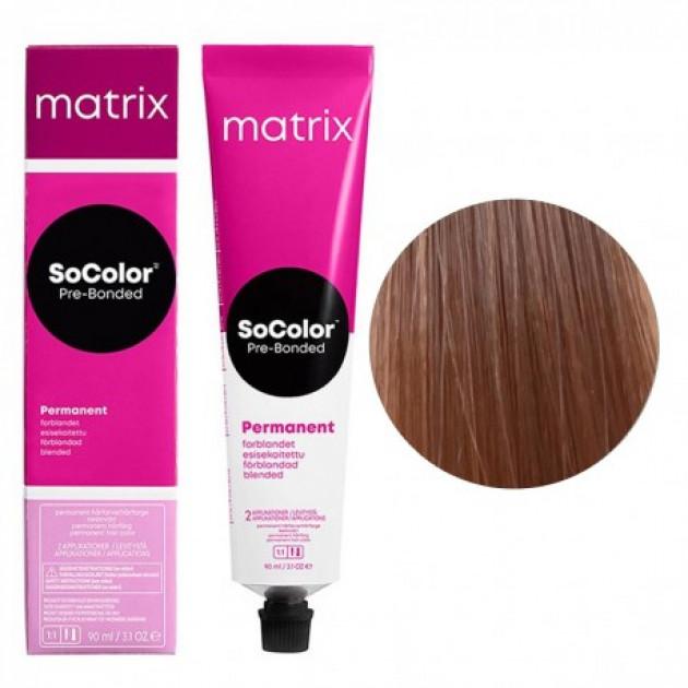 Краска для волос 9A очень светлый блондин пепельный Matrix Socolor Beauty Pre-Bonded 90 мл