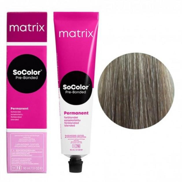 Краска для волос 9AV очень светлый блондин пепельно-перламутровый Matrix Socolor Beauty Pre-Bonded 90 мл