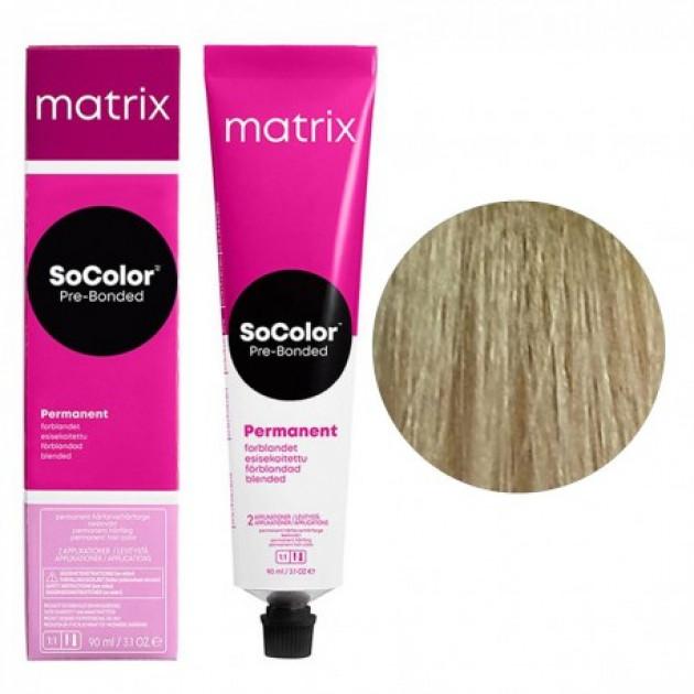 Краска для волос 9G очень светлый блондин мокка Matrix Socolor Beauty Pre-Bonded 90 мл