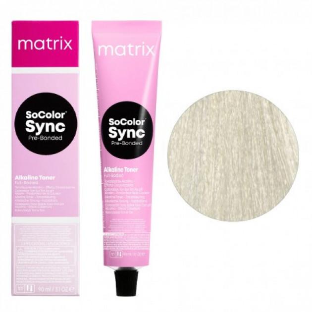 Краска для волос без аммиака 10A экстра светлый блондин пепельный Matrix Socolor Sync Pre-Bonded 90 мл
