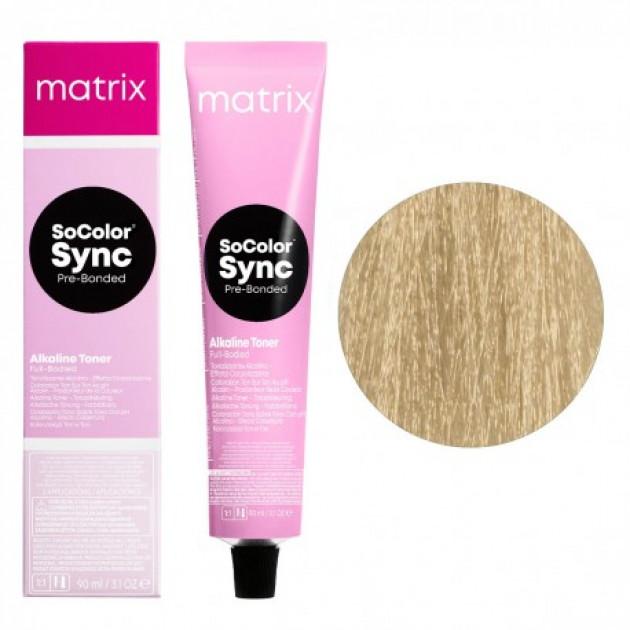 Краска для волос без аммиака 10V экстра светлый блондин перламутровый Matrix Socolor Sync Pre-Bonded 90 мл