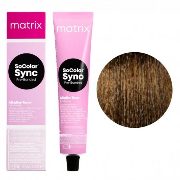 Краска для волос без аммиака 5WN теплый светлый шатен натуральный Matrix Socolor Sync Pre-Bonded 90 мл