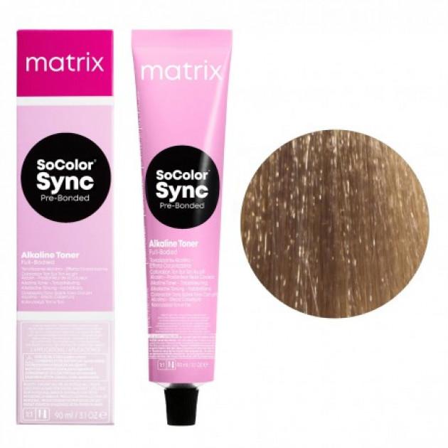 Краска для волос без аммиака 8M светлый блондин мокка Matrix Socolor Sync Pre-Bonded 90 мл