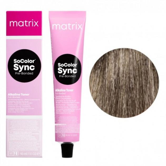Краска для волос без аммиака 8N светлый блондин Matrix Socolor Sync Pre-Bonded 90 мл