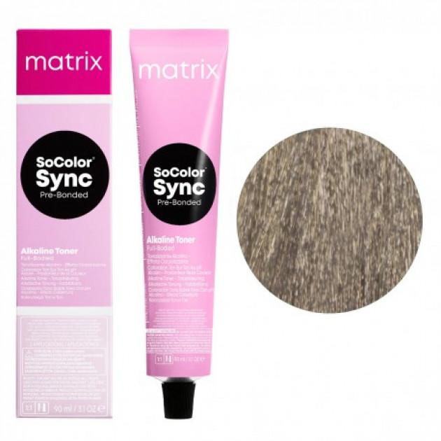Краска для волос без аммиака 8V светлый блондин перламутровый Matrix Socolor Sync Pre-Bonded 90 мл