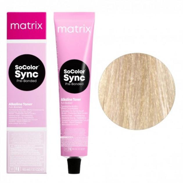 Краска для волос без аммиака 9GV очeнь cвeтлый блoндин зoлoтиcтый пepлaмyтpoвый Matrix Socolor Sync Pre-Bonded 90 мл