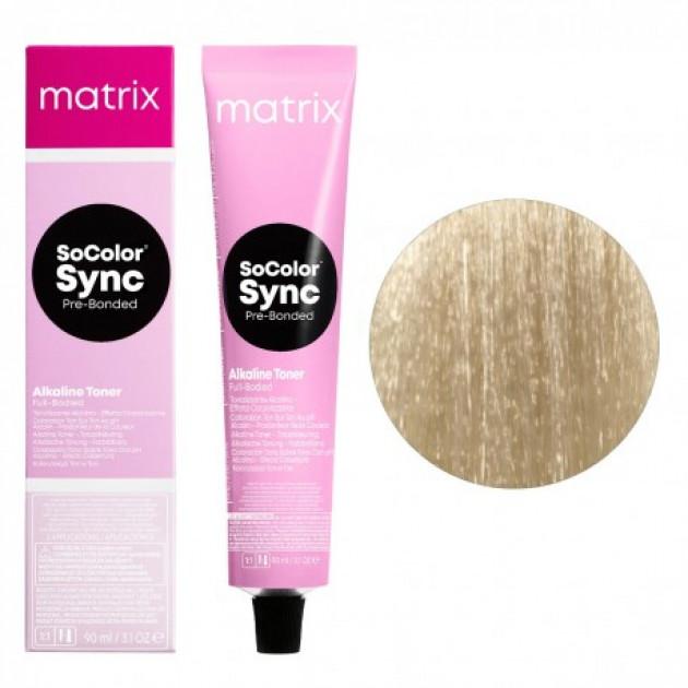 Краска для волос без аммиака SPM прозрачно-пастельный мокка Matrix Socolor Sync Pre-Bonded 90 мл