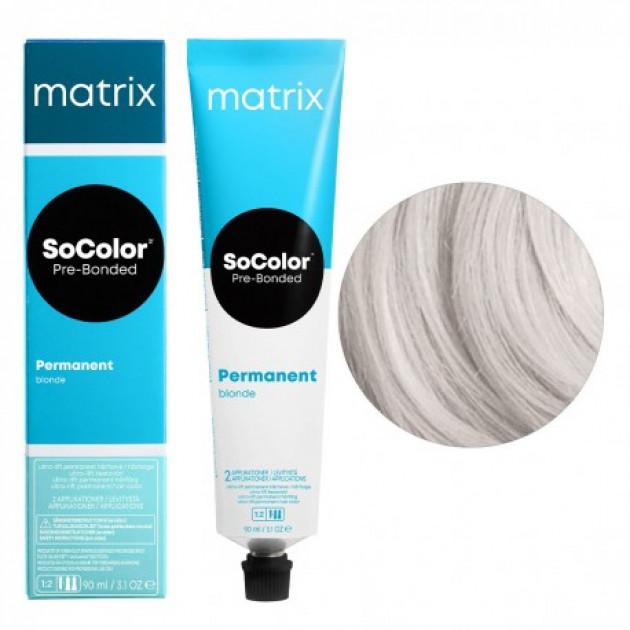 Краска для волос UL-A+ ультра блонд пепельный Matrix Socolor Beauty Pre-Bonded 90 мл