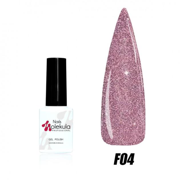 Гель-лак Nails Molekula Flash effect collection №F04 6мл