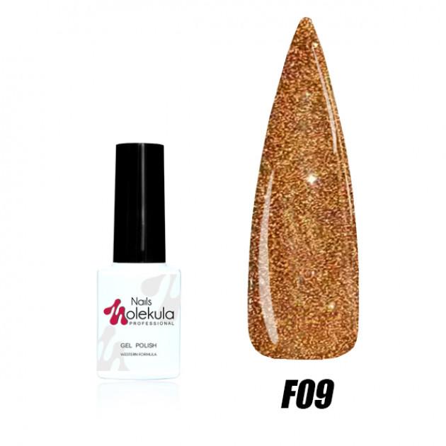 Гель-лак Nails Molekula Flash effect collection №F09 6мл