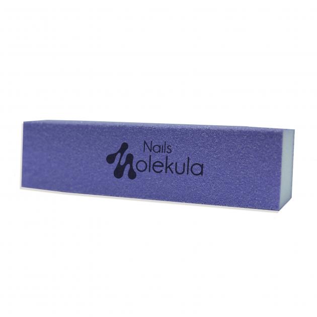 Баф 4-х сторонний фиолетовый 120/120 Nails MolekulaM-25