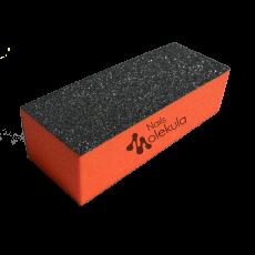 Баф 4-х сторонний оранжевый 120/120 Nails MolekulaM-27