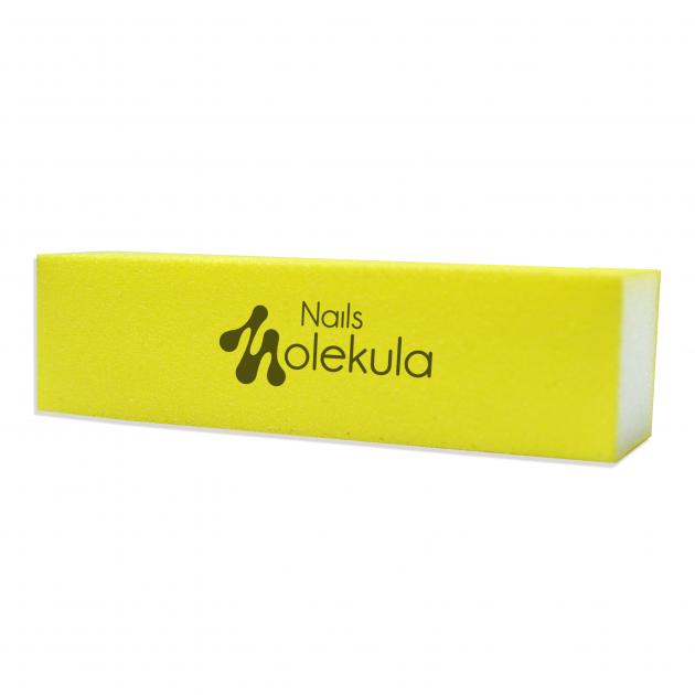 Баф 4-х сторонний желтый 120/120 Nails MolekulaM-28