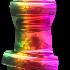 Фольга цветная радуга, битое стекло 1 м Nails Molekula