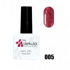 Гель-лак Gel Polish №005 Красное мерцание Nails Molekula 11 мл