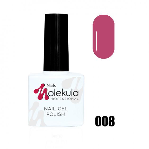 Гель-лак Gel Polish №008 Розовая ягода Nails Molekula 11 мл