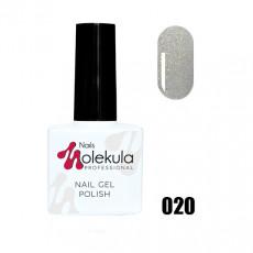Гель-лак Gel Polish №020 Голографик серебро Nails Molekula 11 мл