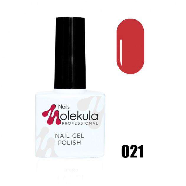 Гель-лак Gel Polish №021 Красно кирпичный Nails Molekula 11 мл