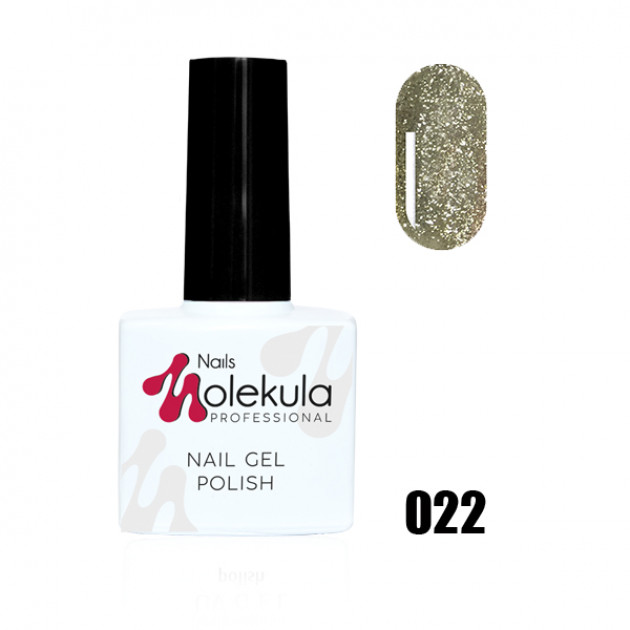 Гель-лак Gel Polish №022 Золотое мерцание Nails Molekula 11 мл