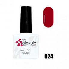 Гель-лак Gel Polish №024 Красный классик Nails Molekula 11 мл