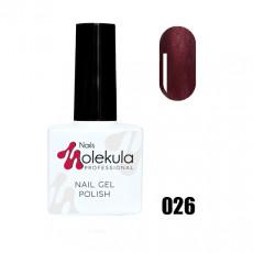 Гель-лак Gel Polish №026 Пунцовый перламутр Nails Molekula 11 мл