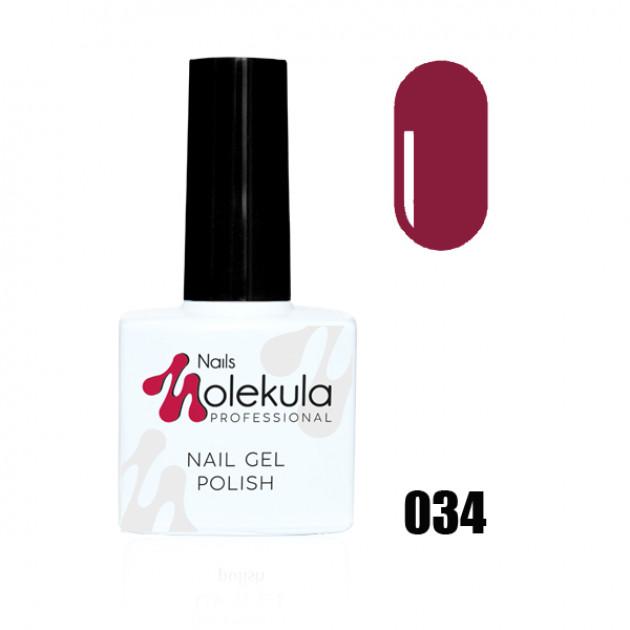 Гель-лак Gel Polish №034 Малиново розовый Nails Molekula 11 мл
