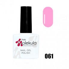 Гель-лак Gel Polish №061 Розовая фукция Nails Molekula 11 мл