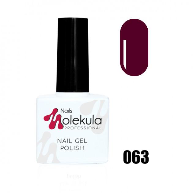 Гель-лак Gel Polish №063 Вишневый Nails Molekula 11 мл