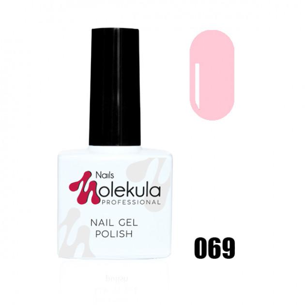 Гель-лак Gel Polish №069 Светло розовый Nails Molekula 11 мл
