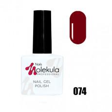 Гель-лак Gel Polish №074 Темно красный Nails Molekula 11 мл