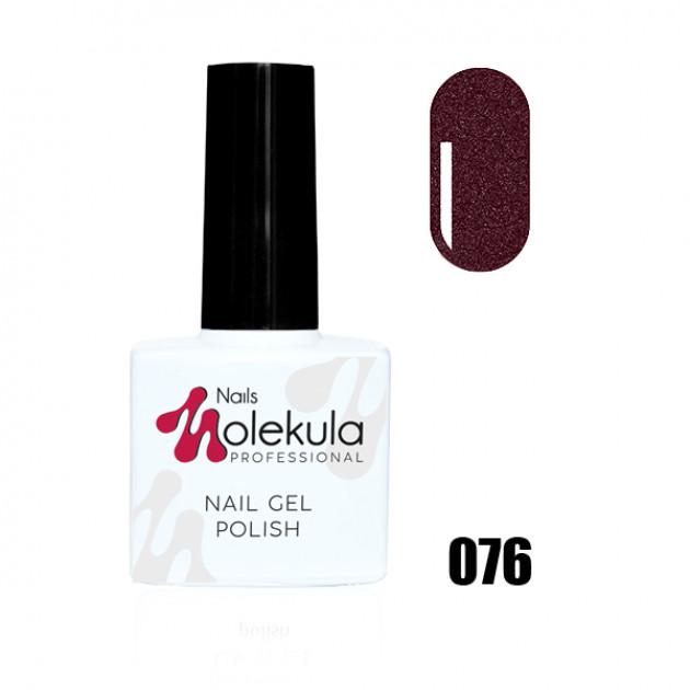 Гель-лак Gel Polish №076 Вишневый перламутр Nails Molekula 11 мл