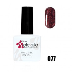 Гель-лак Gel Polish №077 Красный с мерцанием Nails Molekula 11 мл
