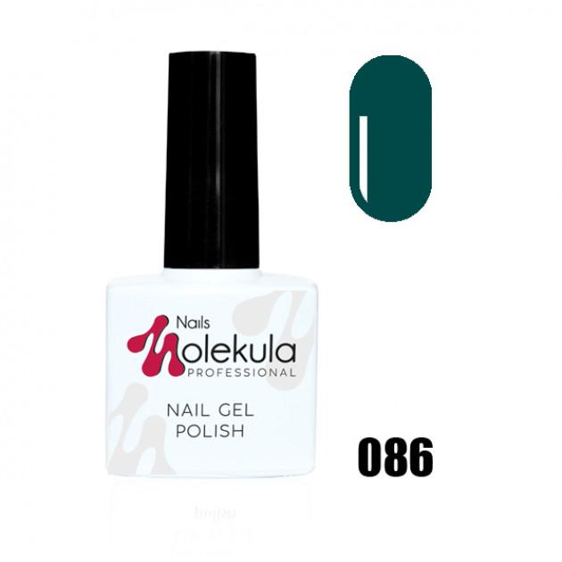 Гель-лак Gel Polish №086 Темный изумруд Nails Molekula 11 мл