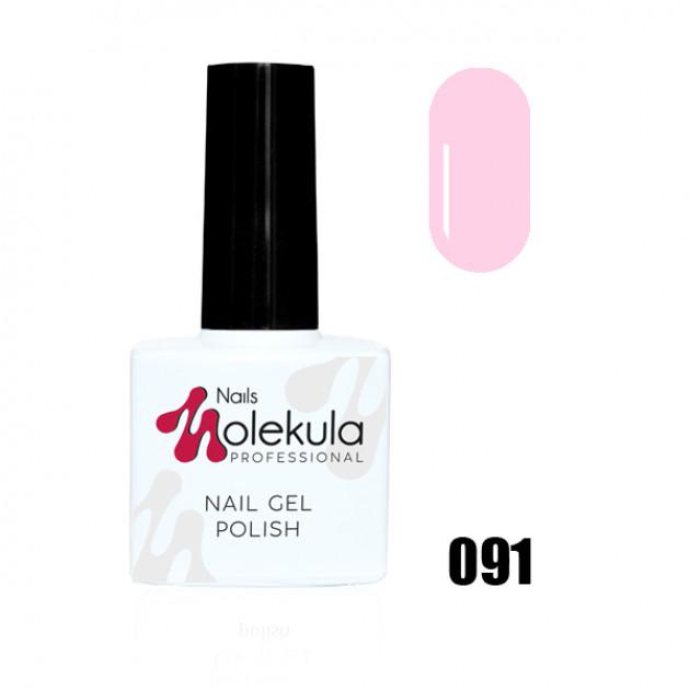 Гель-лак Gel Polish №091 Розово лиловый натюрель Nails Molekula 11 мл