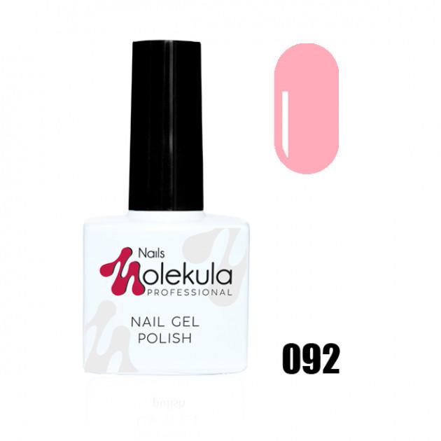 Гель-лак Gel Polish №092 Светло розовый Nails Molekula 11 мл