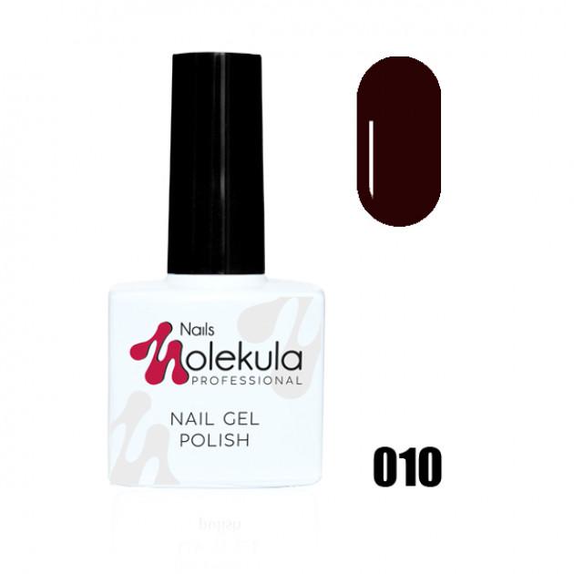 Гель-лак Gel Polish №010 Темный сливовый Nails Molekula 11 мл