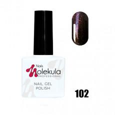Гель-лак Gel Polish №102 Темно красное мерцание Nails Molekula 11 мл
